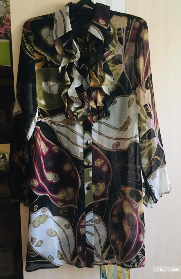 Платье-рубашка шелковая Luisa Spagnoli размер L