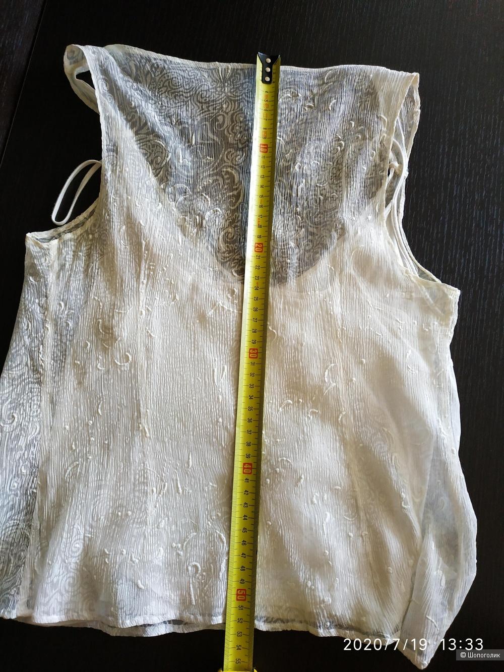 Легкая блузка из шифона NO NAME, размер 42-46.