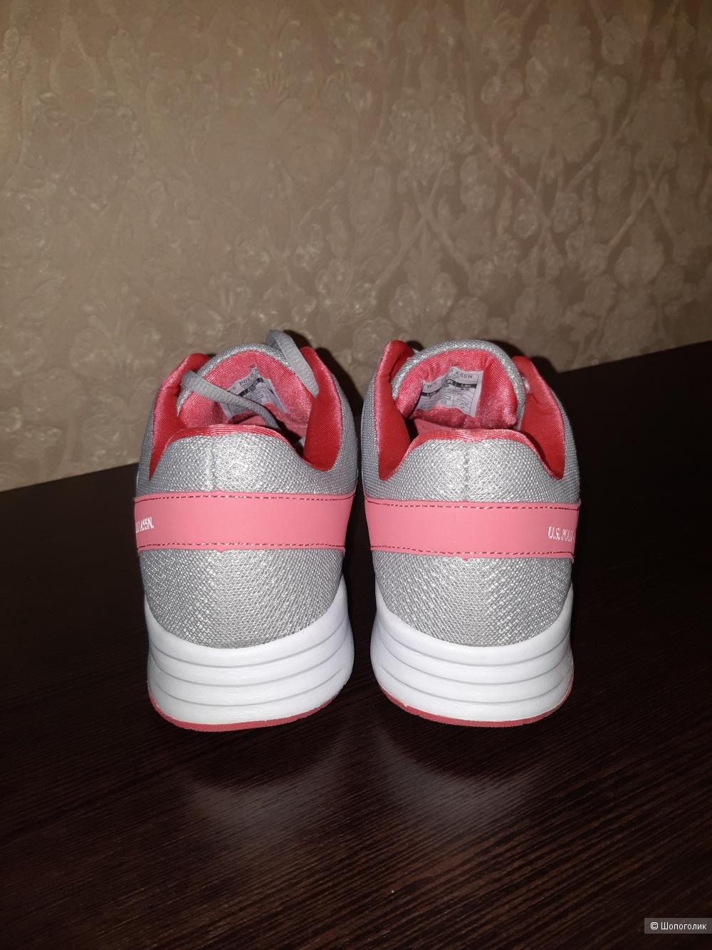 Новые кроссовки us polo, размер eur38