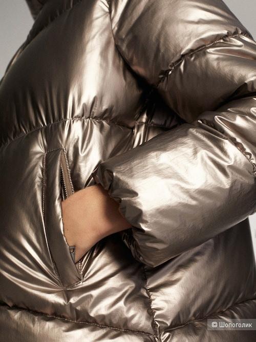 Пуховик с ламинацией S-M-L Massimo Dutti