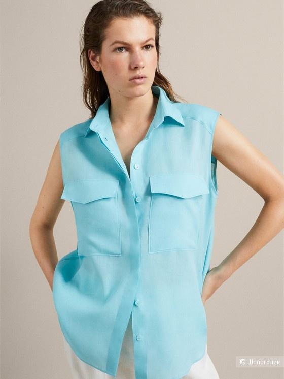 Новая рубашка без рукавов massimo dutti, размер 46/48/50