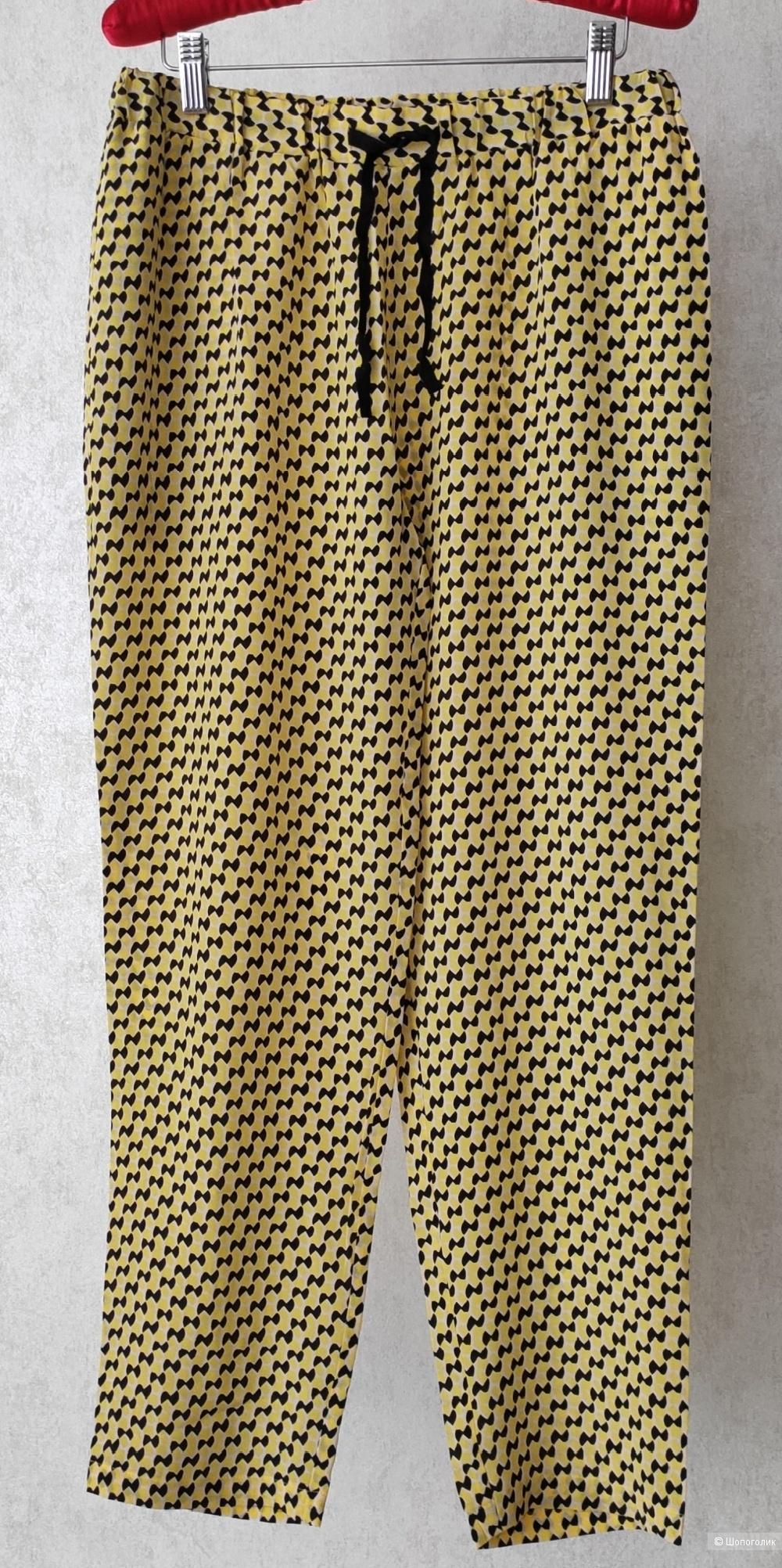 Шелковые брюки STEFANEL, р.M.