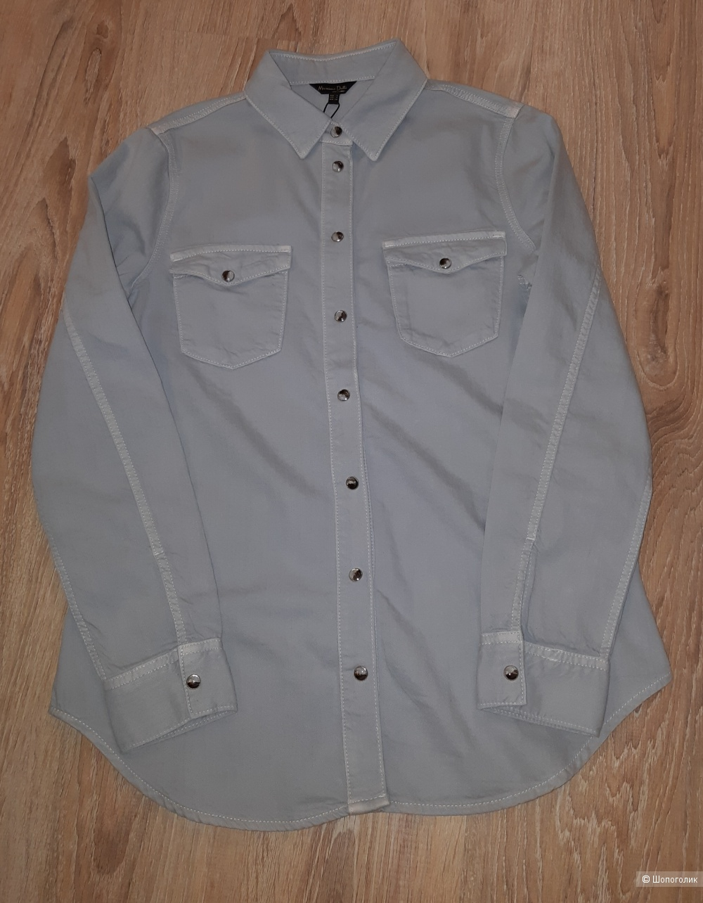Ноаая джинсовая рубашка massimo dutti, размер s