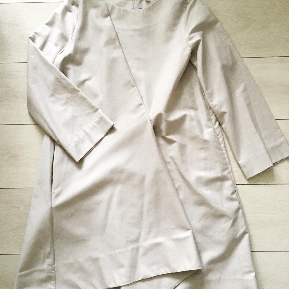 Платье COS светло-серое 36