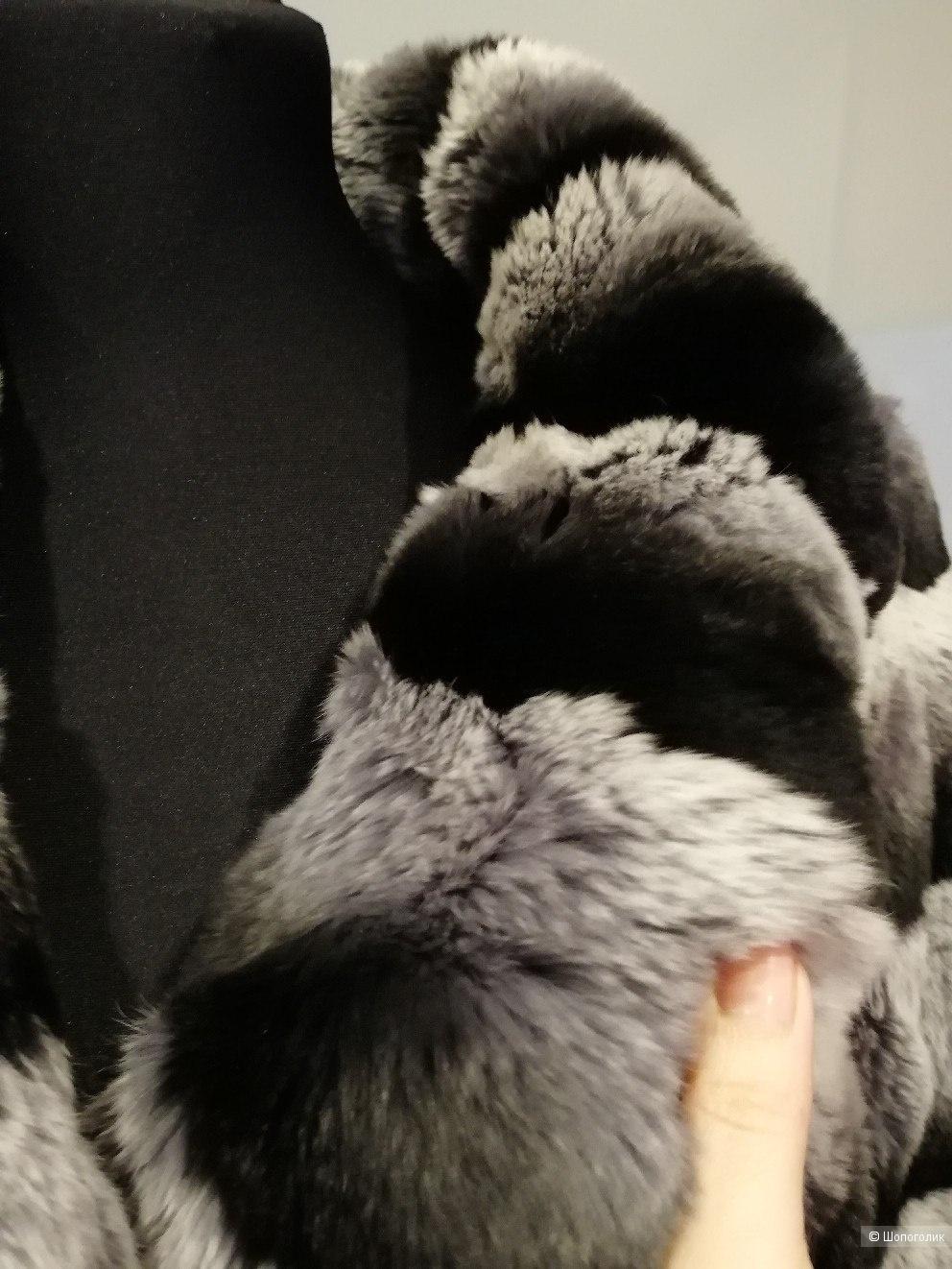 Шубка шиншилловый кролик размер 42-44-46