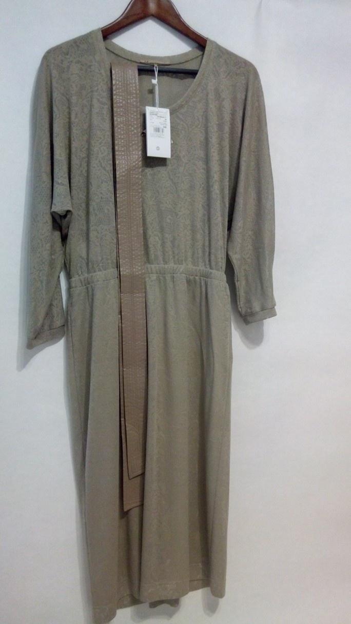 Платье из трикотажного кружева с поясом LO@JN 48 размер  L цвет антик