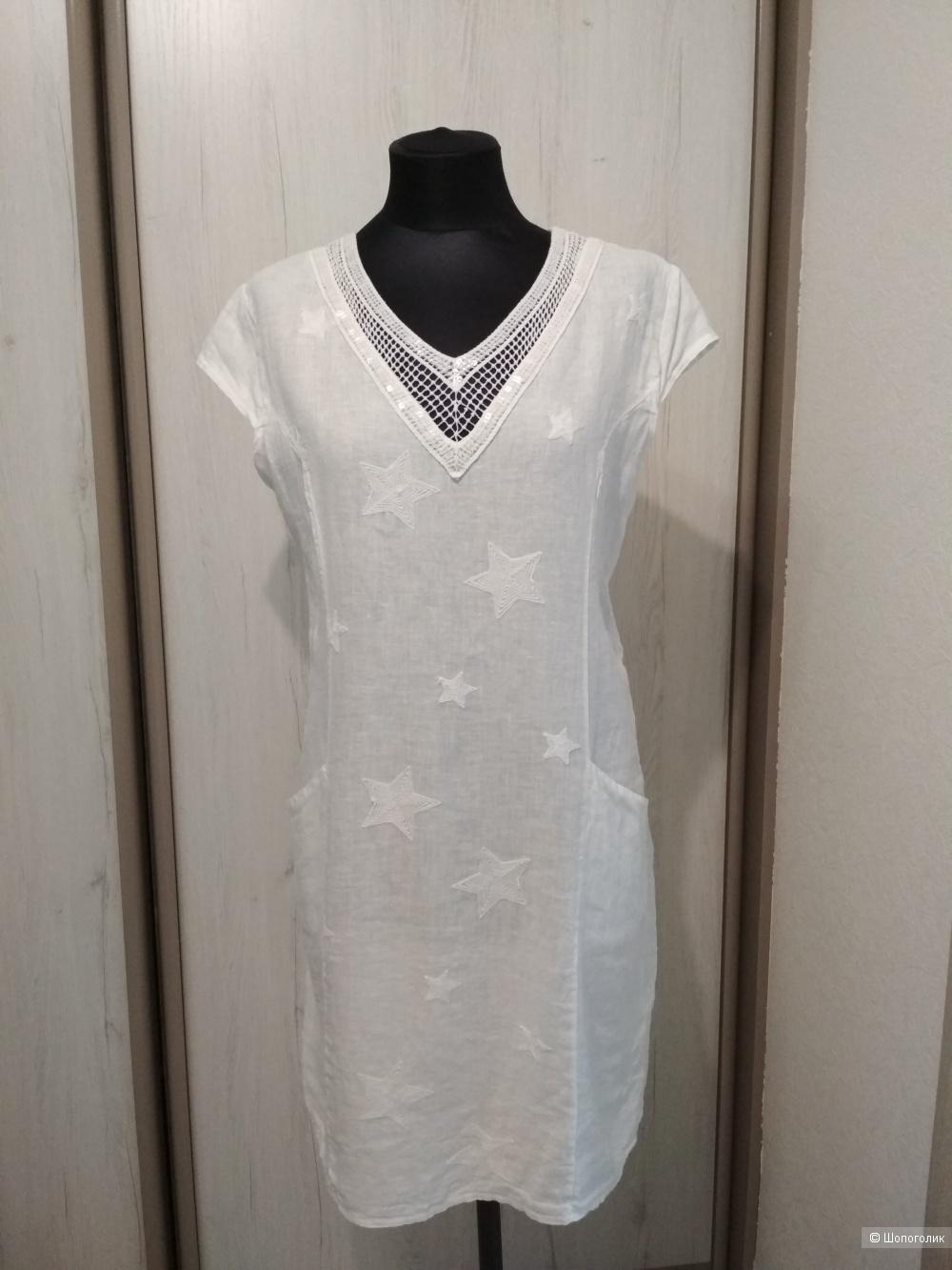 Льняное платье no name, Италия, р.46-48