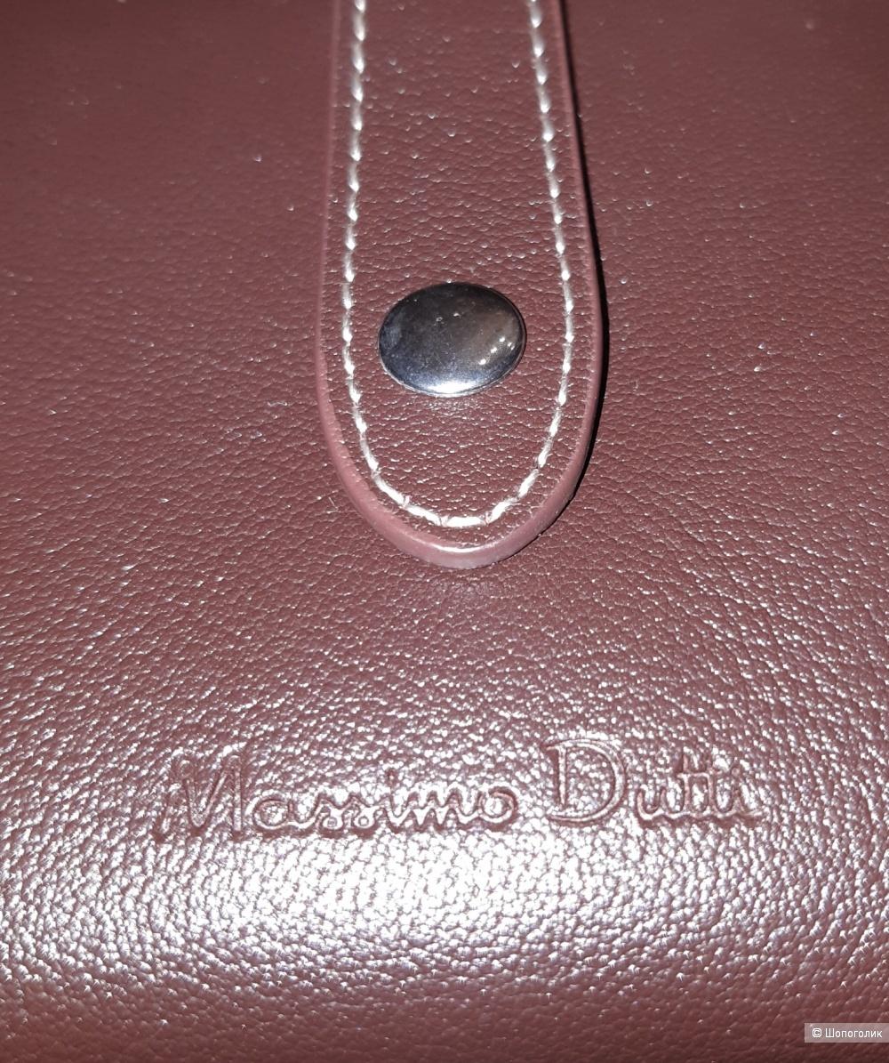 Новый кожаный кошелек massimo dutti, размер средний