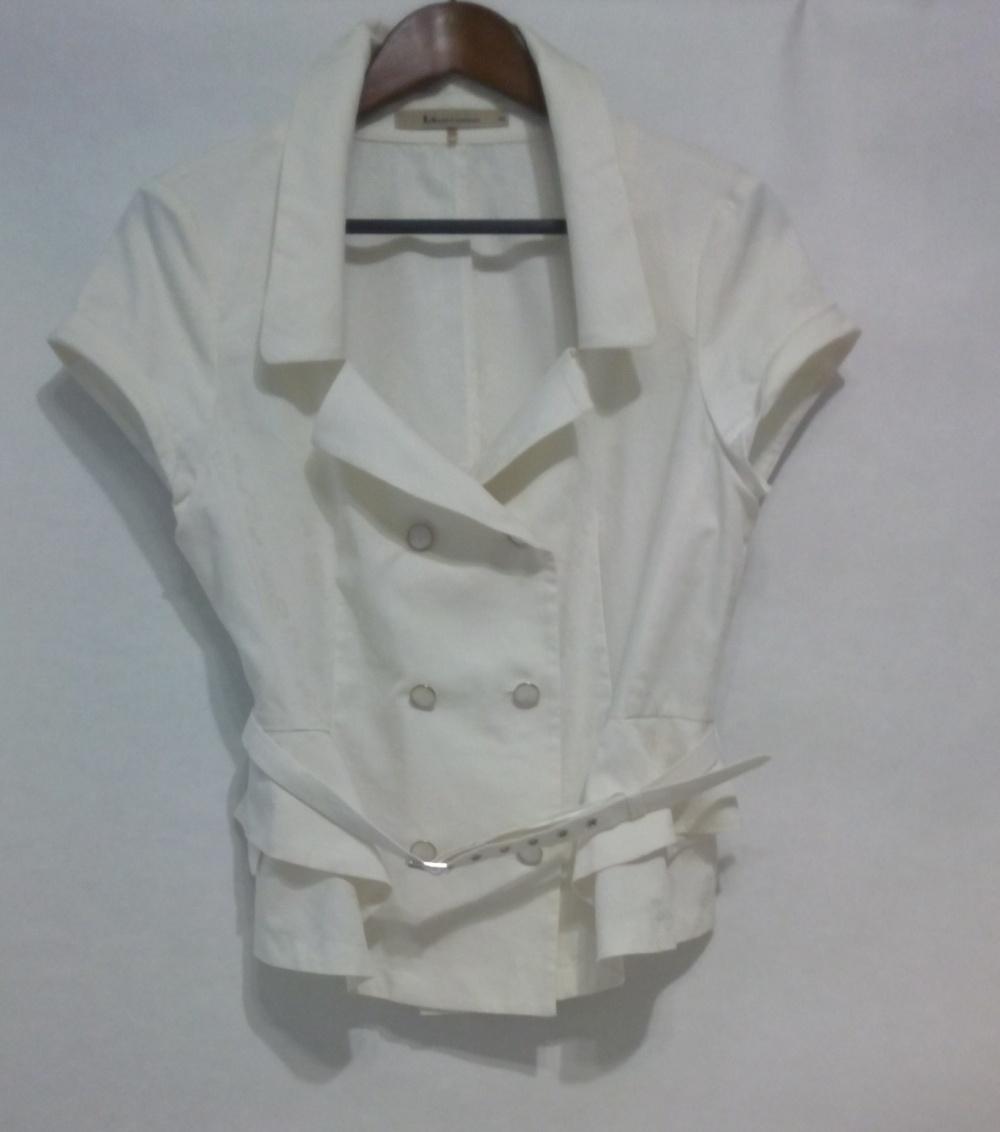 Жакет-блузка с глубоким вырезом LO@JN 48 размер L цвет айвори (молочный)