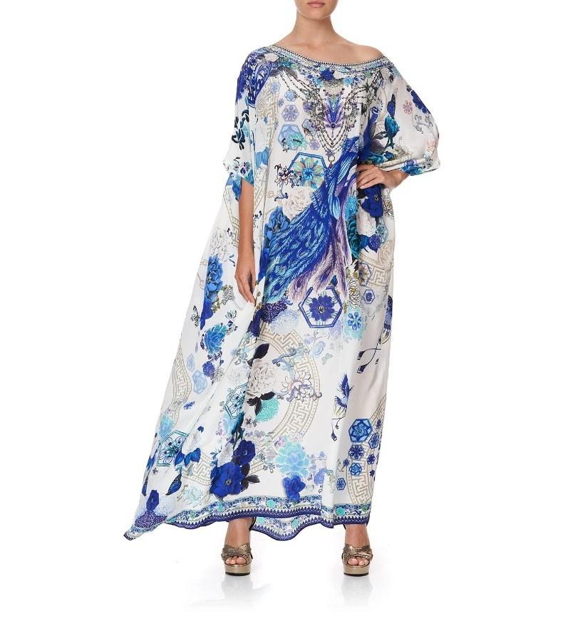 Шелковое платье-кафтан CAMILLA.Размер One Size.