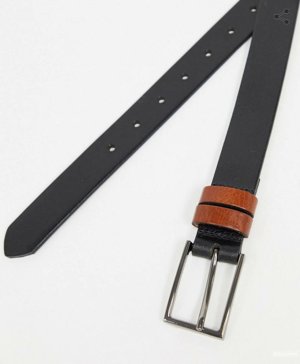 Ремень кожаный от Asos, унисекс (на ОТ 77-92 см)