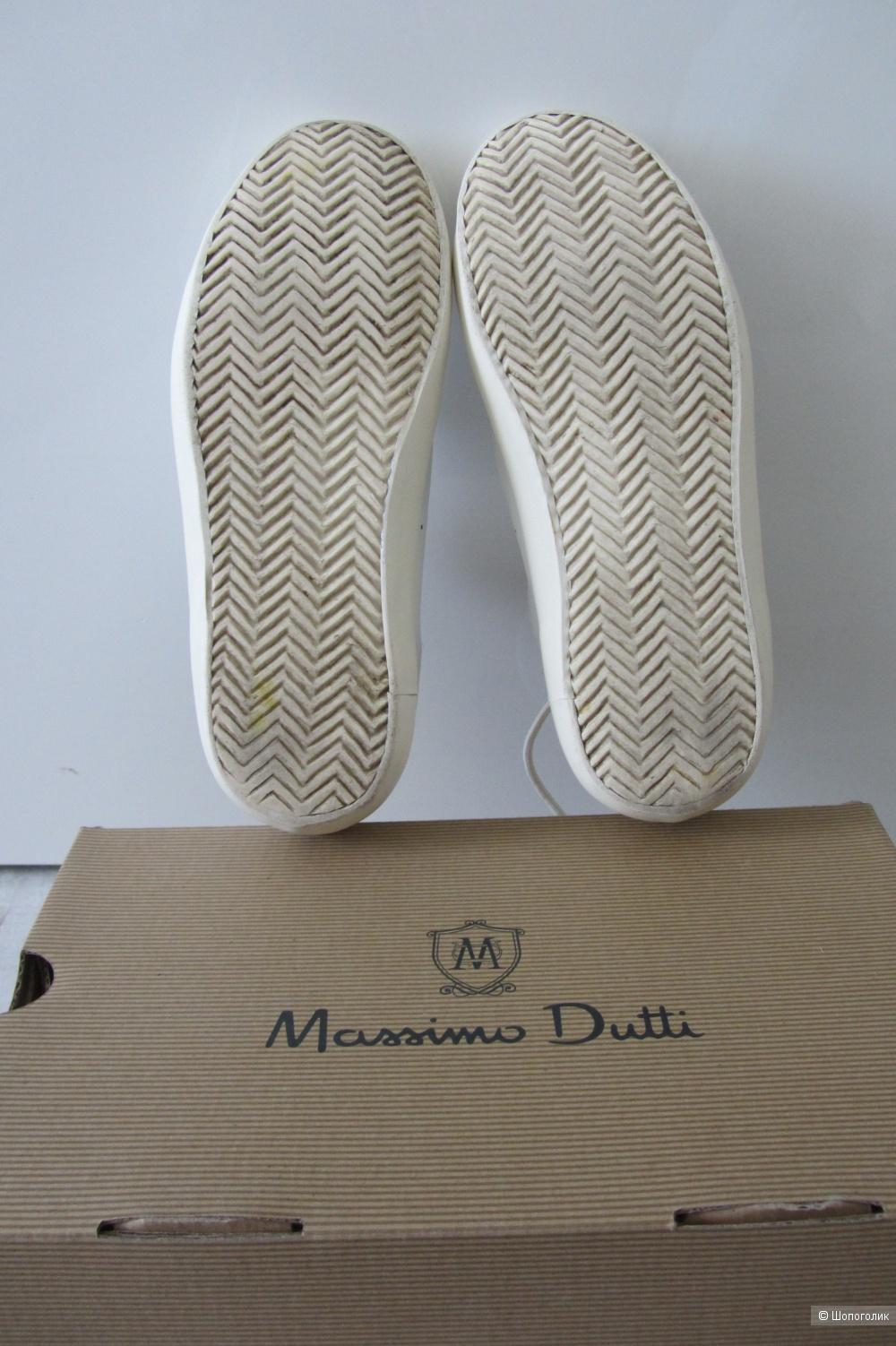 Кожаные кеды Massimo dutti  размер 38