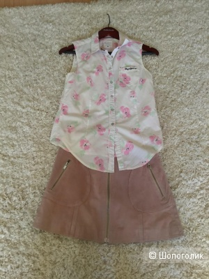 Сет из 2 вещей, юбка Mango и рубашка Pepe Jeans, XS