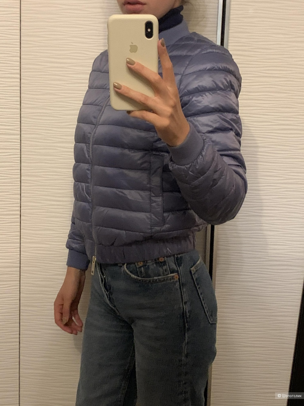 Куртка бомбер - пуховик Massimo Dutti размер XS
