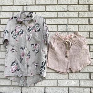 Комплект шорты и рубашка Pure lino italy, 42-48