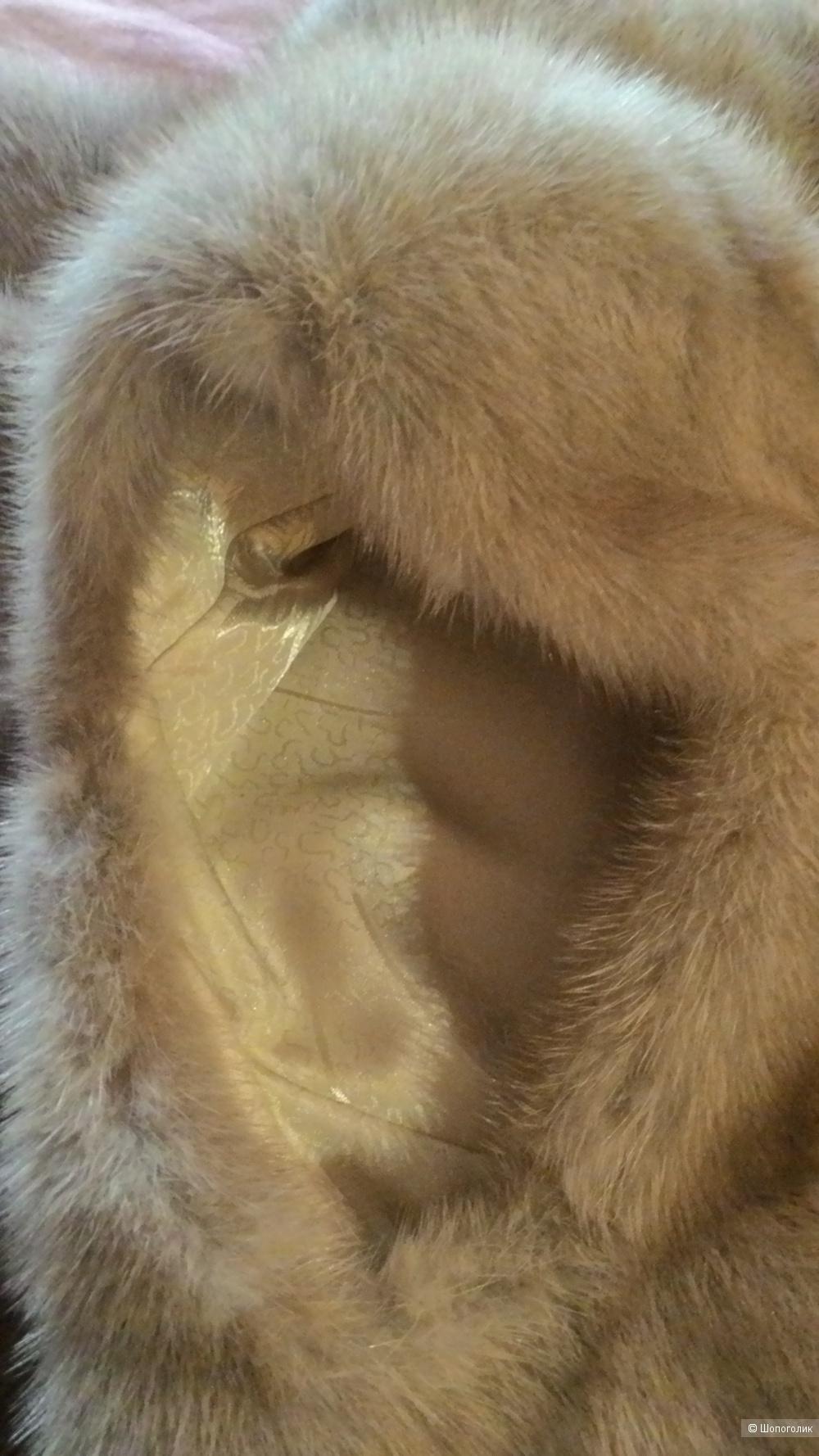 Норковый удлинённый жилет Кировской меховой фабрики, 44-46 (М)