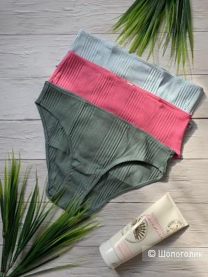 Хлопковые трусики Victoria's Secret, набор из 3 штук, S