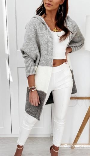 Кардиган с капюшоном Grey/White , 42-50