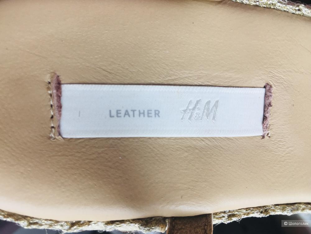 Босоножки H&M Premium размер 39 на 38