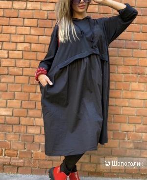 Платье с капюшоном  plus size STELLA MILANI, 48-52
