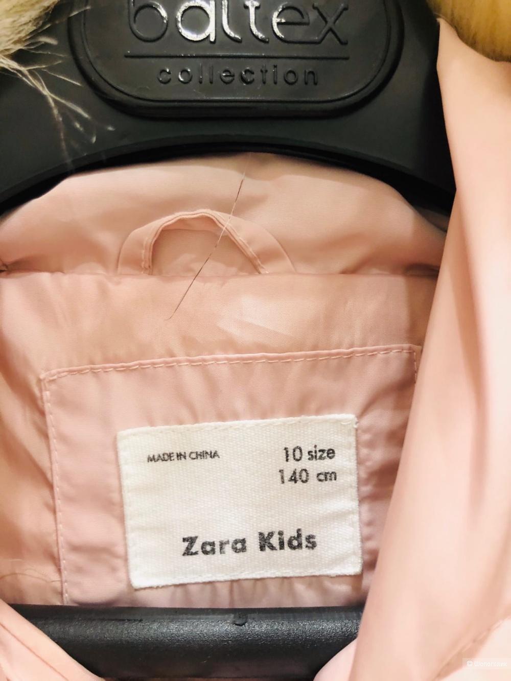 Пуховик Zara .Рост 134- 140