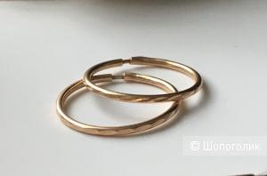 Серьги-кольца,золото 585 пробы.