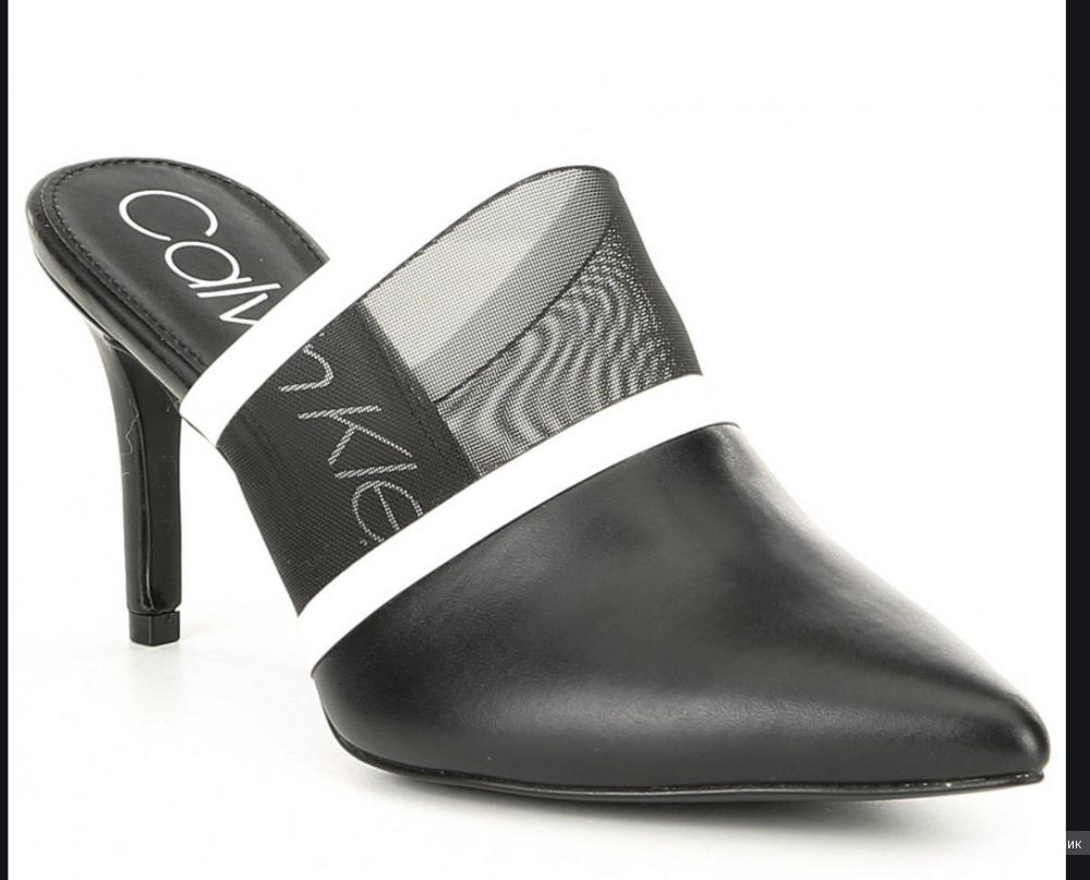 Мюли на каблуке Calvin Klein 7,5 на 37
