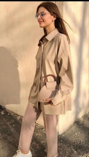 Рубашка из эко-кожи от Ellada&Kate размер М