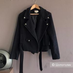 Чёрная шерстяная Куртка Grace & Mika, размер L