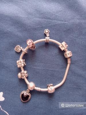 Pandora браслет серебро 925 проба