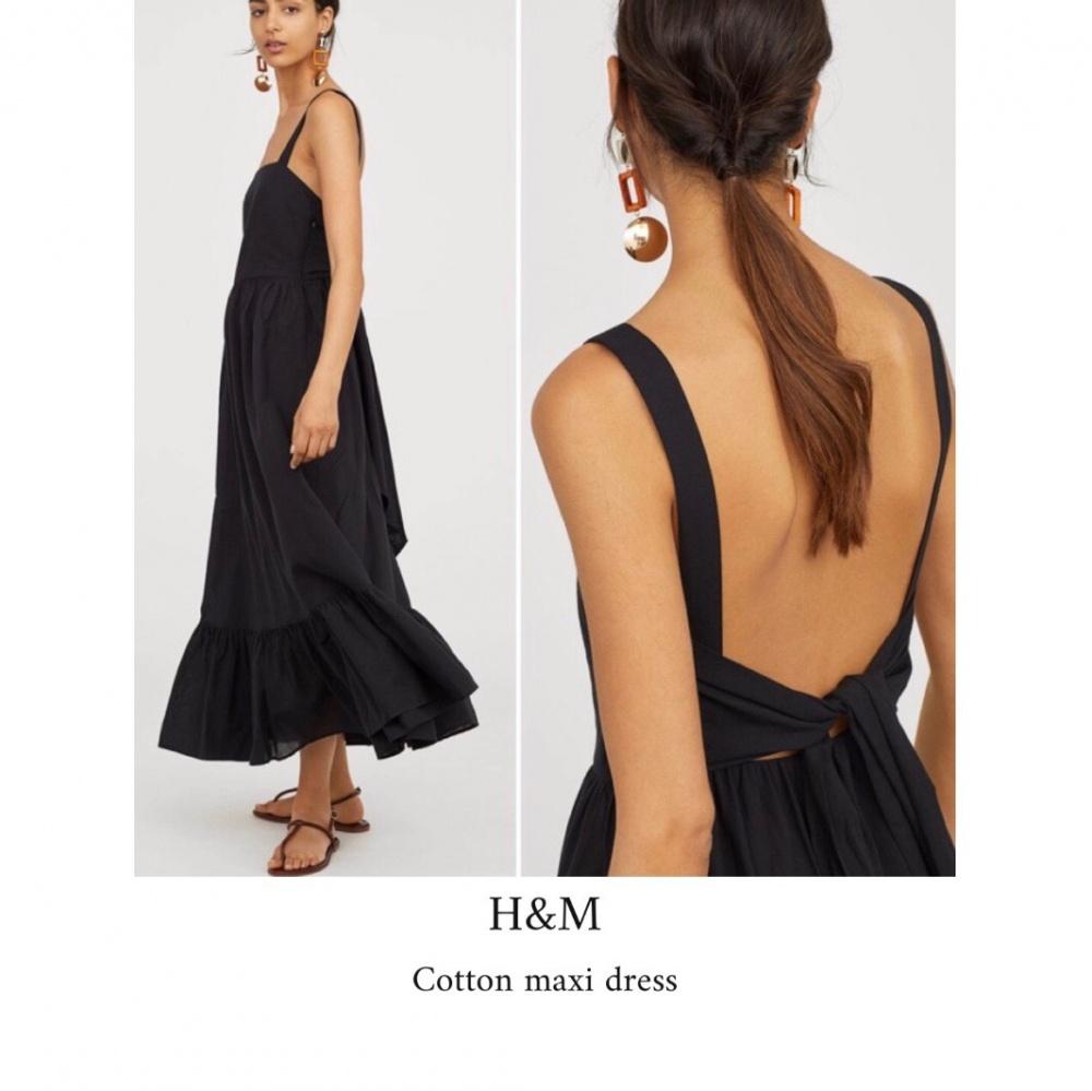 Хлопковое платье HM евро36