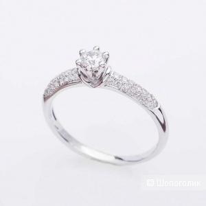 Кольцо с бриллиантами 17,5 размер