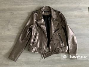 Кожаная куртка Zara Woman, р.40