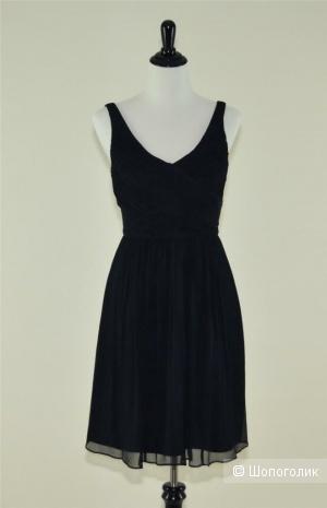 Шелковое платье J. Crew Silk Chiffon Heidi Petite Dress размер 4