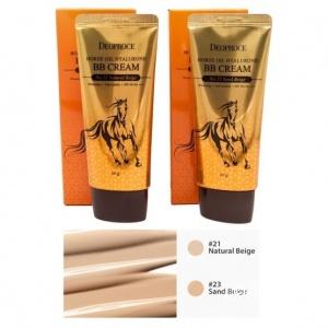 Пробник 21 тонн ББ крем с лошадиным жиром Deoproce Horse Oil Hyalurone BB cream