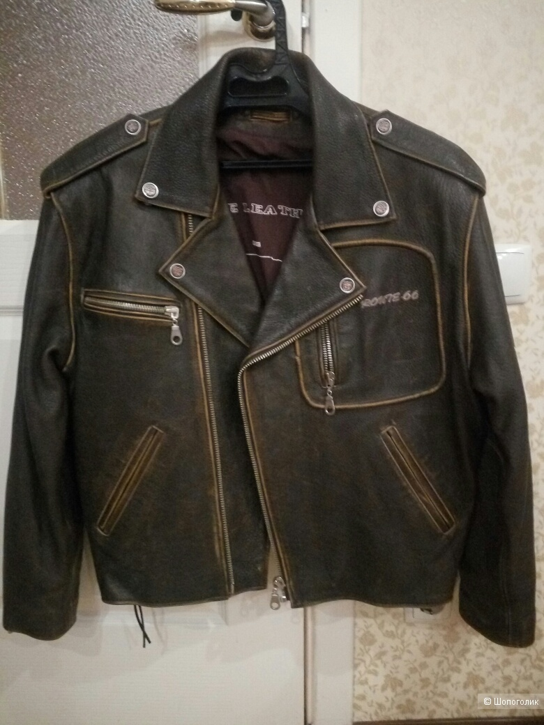 Мужская  кожаная куртка + жилетка ROUTE 66 48-50  размер