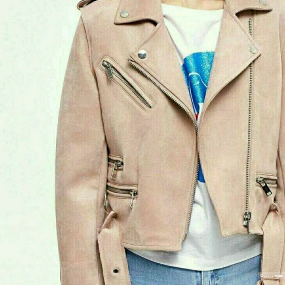 Замшевая куртка Zara, M