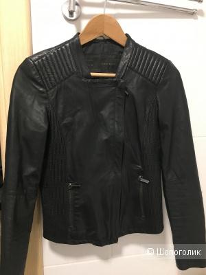 Куртка кожаная Zara Bazic размер 44 S