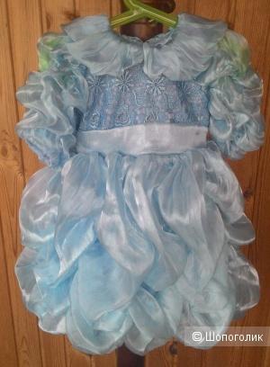 Платье-облако, 2-3 года, Киргизия