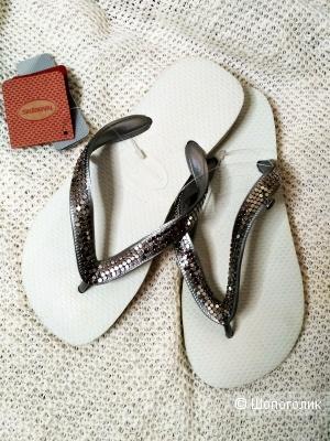 Шлепки сланцы Havaianas кастомизированные 35-36 размер