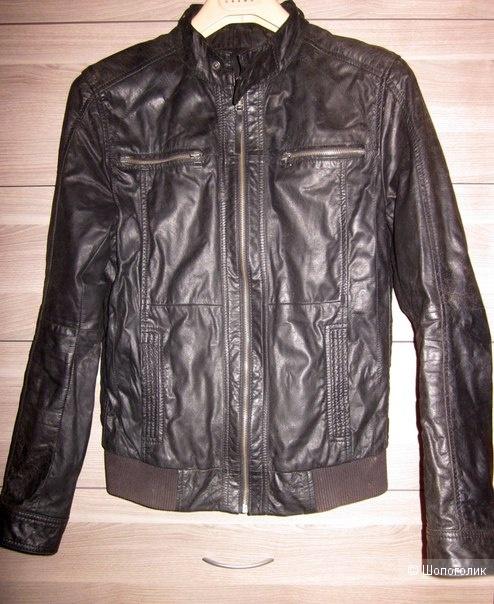 Сэт Oggi man куртка кожа и джинсы 46 размер