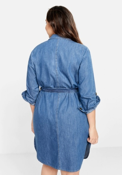 Джинсовое платье Mango XXL