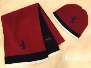 Детский комплект (шапочка и шарфик) Ferrari, 6-18 мес