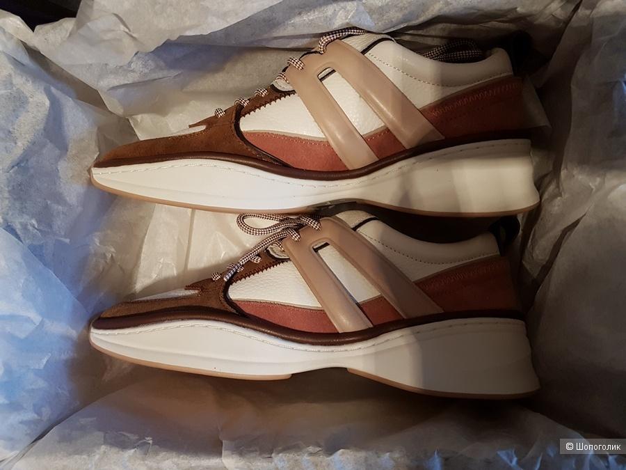 Кроссовки кожаные от Massimo Dutti, р. 39
