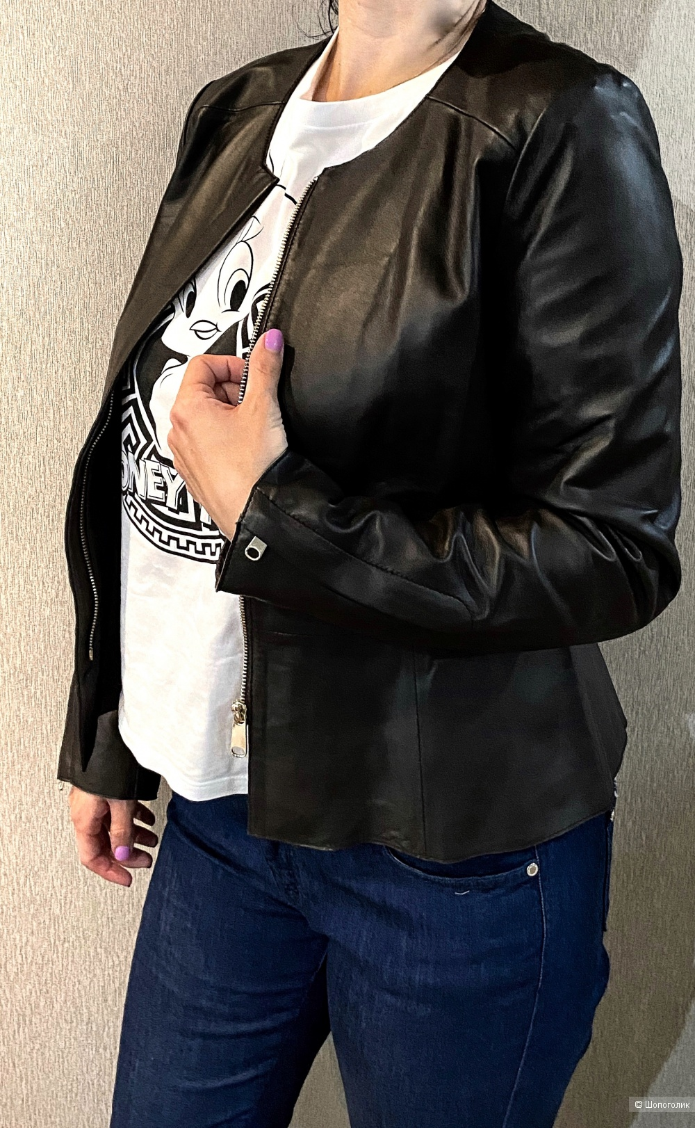 Кожаная куртка Intrend maxmara, 44