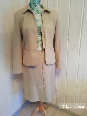 Сет из трех вещей костюм, размер 48 ,юбка+пиджак+блуза (топ)