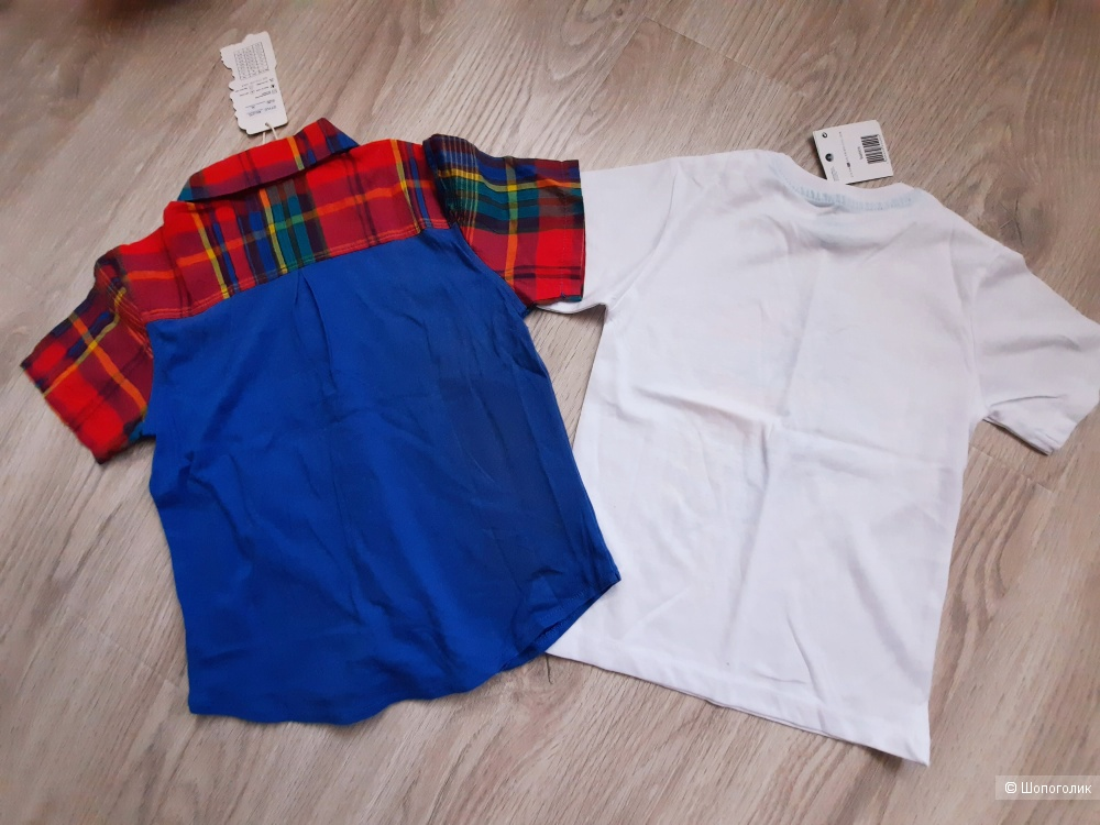 Футболка и рубашка на мальчика, р.110