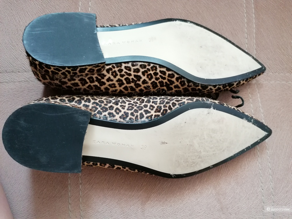 Туфли Zara cow leopard print размер 39