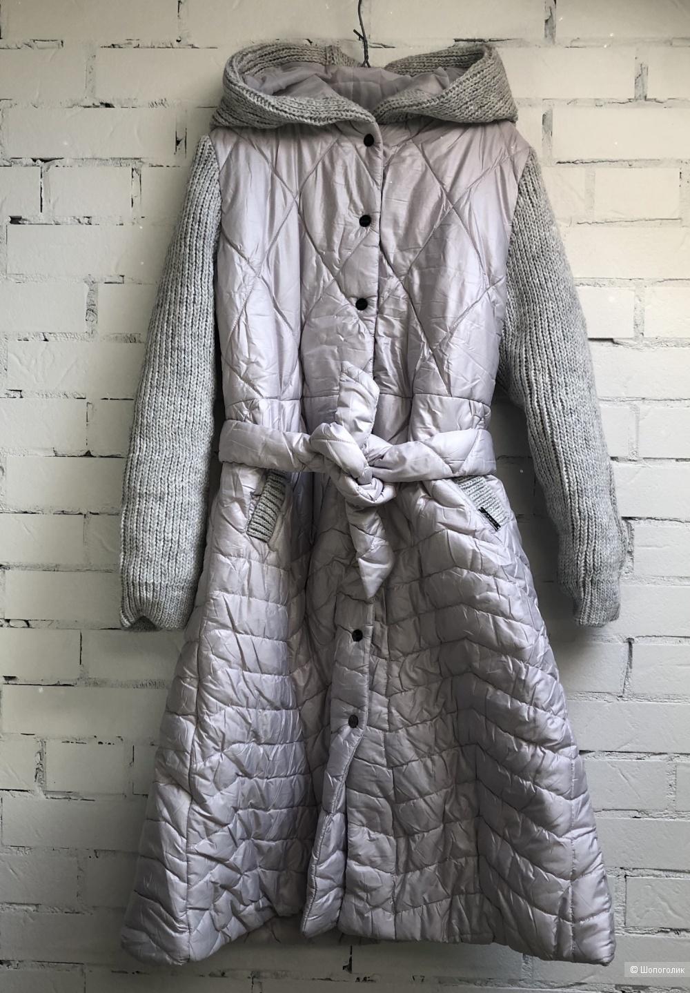 Пальто пуховик стеганое длинное BASTET , 44-50
