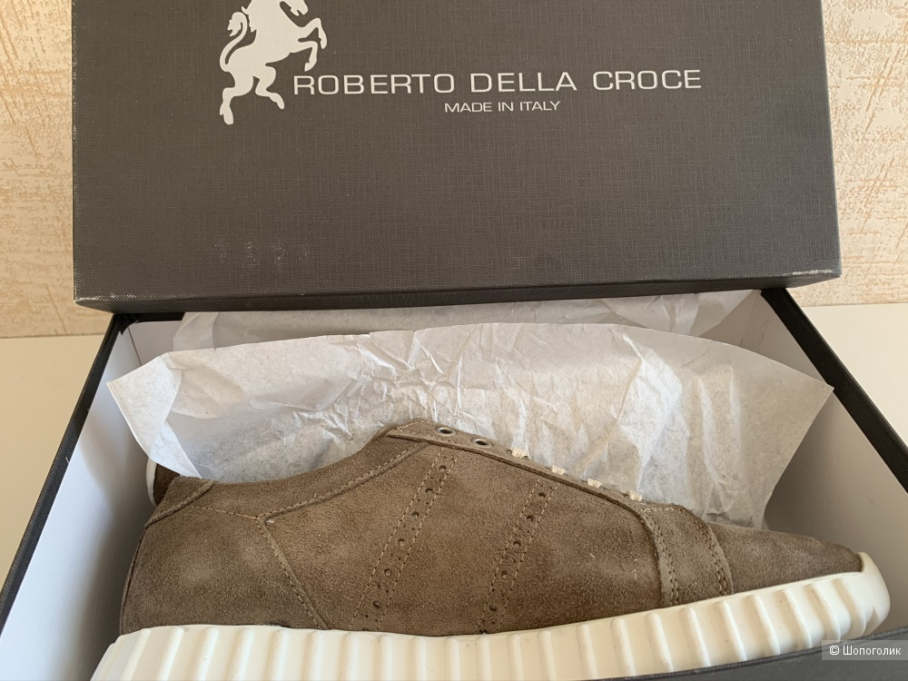 Замшевые ботинки Roberto della croce